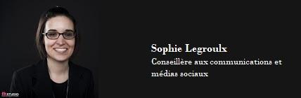 Arrivée De Sophie Legroulx à La Barre Des Communications Et Médias Sociaux